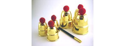 Golden Mini Cups & Balls